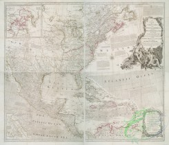 antique_maps-02178 - A new and correct map of North America with the West India Islands  -  divided according to the last treaty of peace, concluded at Paris, 10th Feby. 1