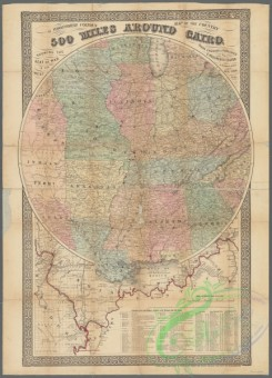 antique_maps-02215 - G. Woolworth Colton's map of the country 500 miles around CairoAdditional 500 miles around Cairo