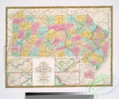 antique_maps-02296 - Map of Pennsylvania, New Jersey and Delaware compiled from the latest authorities.Additional Pennsylvania, New-Jersey, & Delaware