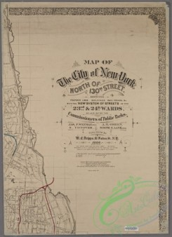 antique_maps-02669 - 0020-Map of the City of New York north of 130th Street  -  showing property lines, buildings, rail-roads, &c., with the new system of streets in the 23rd &