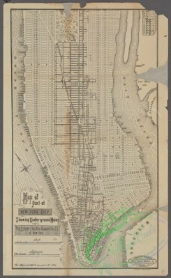 antique_maps-02809 - 0519-Map of part of New York City showing underground mains of the Edison Electric Illuminating Co. of New York