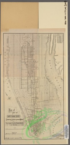 antique_maps-03148 - 2891-Map of part of New York City  -  showing underground mains of The Edison Electric Illuminating Co. of New York