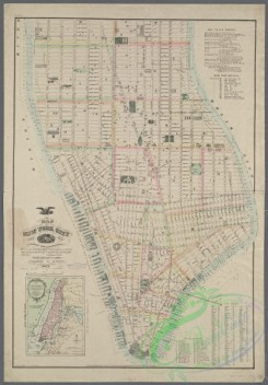 antique_maps-03229 - 3158-Map of New York City, south of 46th St.