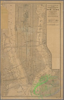 antique_maps-03266 - 3308-Map of the southern part of the Borough of Manhattan of the city of New York, prepared expressly for the Trow Directory, Printing, and Bookbinding Co