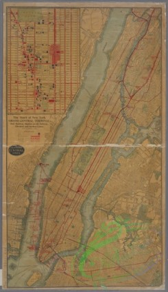 antique_maps-03283 - 3371-TheHeart of New York -  Grand Central Terminal -  Only Railway Station on the Subway, Elevated, and Surface Lines