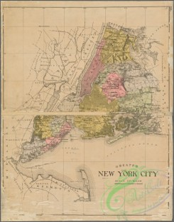 antique_maps-03315 - 3461-Greater New York City