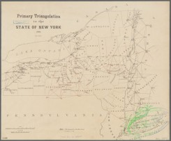 antique_maps-03461 - 3951-Primary triangulation in the state of New York