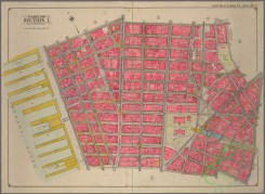 antique_maps-03583 - 4036-New York City, part of Map of part of Section 1, including approach to the Brooklyn Bridge. Bounded by Hudson River and Mulberry Street, and by Walker