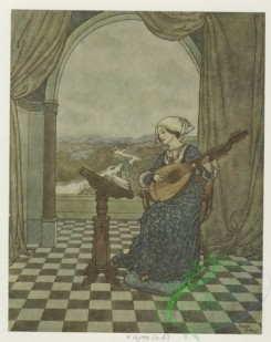 childrens_books-01348 - 033-(''She played upon the ringing lute, and sang to its tones'')Additional The wind's tale
