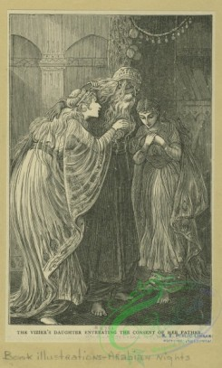 childrens_books-01379 - 067-The Vizier's daughter entreating the consent of her father
