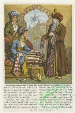 childrens_books-01418 - 106-Blue-Beard gives Fatima the key, and warns her not to open the blue-closet