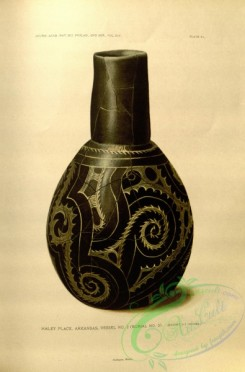 crockery-00007 - Bottle of fine black polished ware