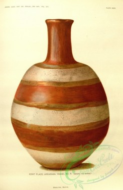 crockery-00011 - Bottle with barrel-shaped body decorated with encircling bands