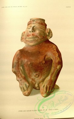 crockery-00040 - Human effigy figure of yellow ware
