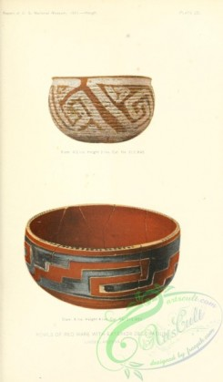 crockery-00097 - 003-Bowls of red ware with exterior decoration