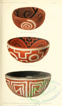crockery-00103 - 009-Bowls of Rugose and Red Ware, White Exterior Decoration