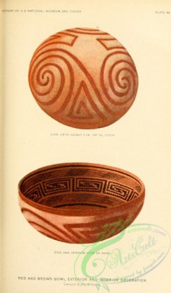 crockery-00105 - 011-Red and Brown Bowl, exterior and Interior Decoration