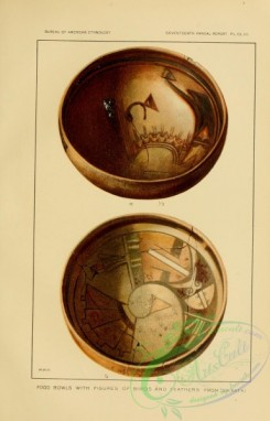 crockery-00159 - 030-Food Bowls with figures of birds and feathers from sikyatki