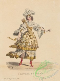 dances-00131 - 0985-Costume de DianeAdditional Costumes de theatre de 1600 a 1820