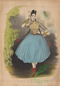 dances-00286 - 0408-The cracovienne, danced by Madlle Fanny Elssler in the grand ballet of The gipsey,Additional Cracovienne