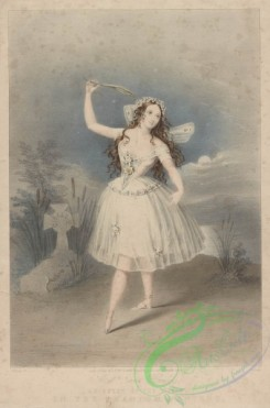 dances-00429 - 1844-Miss Emma Harding as Queen of the Wilis, in the Phantom dancersAdditional Giselle