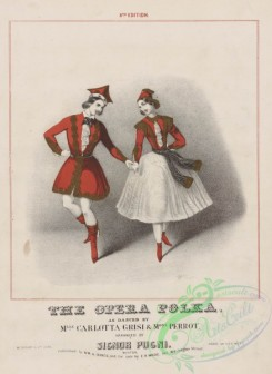 dances-00567 - 1184-The opera polka, as danced by Mlle Carlotta Grisi , Mons, Perrot,Additional Polka