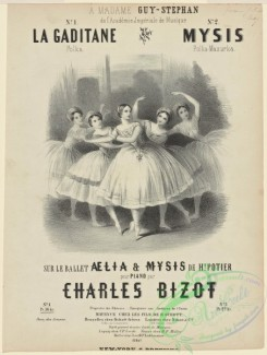 dances-00712 - black-and-white 0524-Ballet and opera images on 19th-century music covers