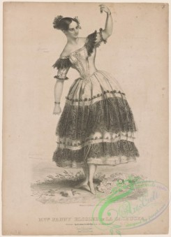dances-00894 - black-and-white 0674-Mlle, Fanny Elssler in La cachucha,Additional Cachucha