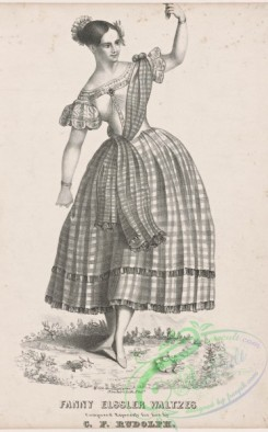 dances-00932 - black-and-white 1074-Fanny Elssler waltzes composed expressly for her by C, F, Rudolph,Additional Cachucha