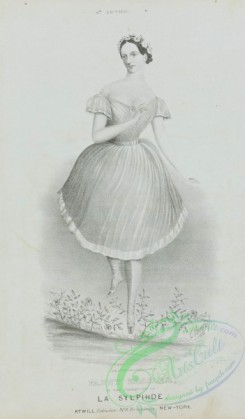 dances-00942 - black-and-white 1130-Fanny Elssler, in the character of La sylpihde (sic),Additional Sylphide