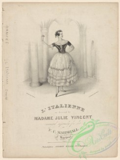 dances-00964 - black-and-white 1346-L'Italienne as danced by Madame Julie VincentAdditional Italienne