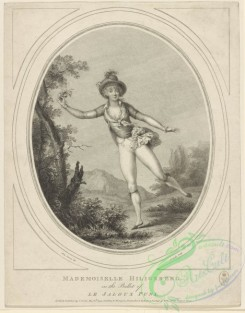 dances-01001 - black-and-white 1657-Mademoiselle Hiligsberg in the ballet of Le jaloux puni,Additional Jaloux puni