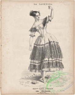 dances-01018 - black-and-white 1813-La cachucha as danced by Madlle, Fanny Elssler,Additional Cachucha