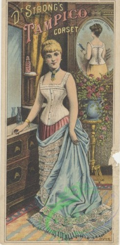 ephemera_advertising_trading_cards-00368 - 0368-Woman in blue, red, white, mirror, room, corset [1480x3000]