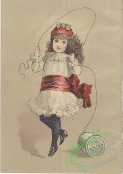 ephemera_advertising_trading_cards-00404 - 0404-Girl in white dress jumping with skipping rope [2126x3000]