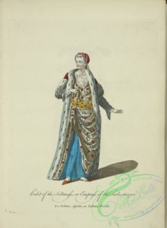 fashion-00768 - 007-Habit of the sultaness, or empress of the Turks in 100, La sultane Asseki ou Sultane reine