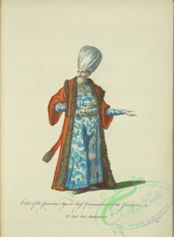 fashion-00780 - 019-Habit of the Janesary aga, or chief commandant of the Janesaries, L'Aga des Janifsaires