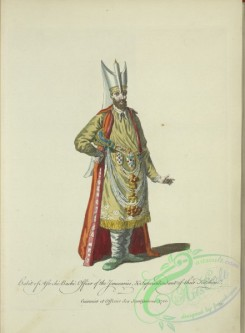 fashion-00783 - 022-Habit of the Ast-chi-Bachi, Officer of the Janesaries, , superintendant of their kitchen, Cuisinier et officier des Janissaires 1700