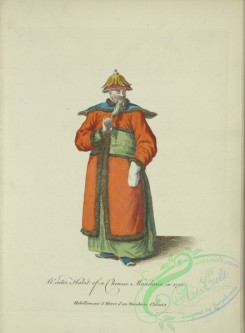 fashion-00805 - 044-Winter habit of a Chinese Mandarin in 1700
