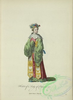 fashion-00808 - 047-Habit of a lady of China in 1700, Autre dame Chinoise