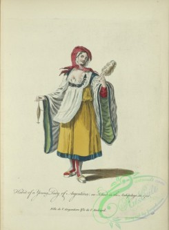 fashion-00812 - 051-Habit of a young lady of Argentiera and island in the Archipelago in 1700, Fille de l'Argentiere Isle de l'Archipel
