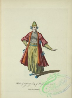 fashion-00813 - 052-Habit of a young lady of Bulgaria in 1700, Fille de Bulgarie