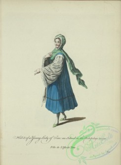 fashion-00824 - 063-Habit of a young lady of Tine, an island in the archipelago, in 1700, Fille de l'Isle de Tine