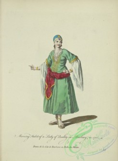 fashion-00852 - 091-Morning habit of a lady of quality in Barbary in 1700, Dame de la Cote de Barbarie en robe du Matin