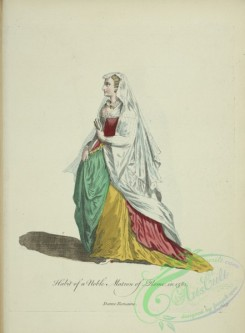 fashion-00872 - 111-Habit of a noble matron of Rome in 1581, Dame Romaine