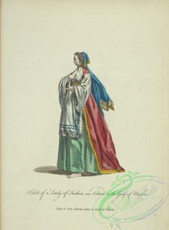 fashion-00879 - 118-Habit of a lady of Ischia, an island in the Gulf of Naples, Fille de l'Isle d'Ischia le Golfe de Naples