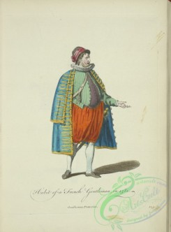 fashion-00893 - 135-Habit of a French gentleman in 1581, Gentilhomme Francoise