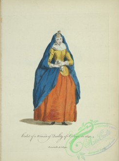 fashion-00935 - 177-Habit of a woman of quality of Cologn(sic) in 1640, Demoiselle de Cologne