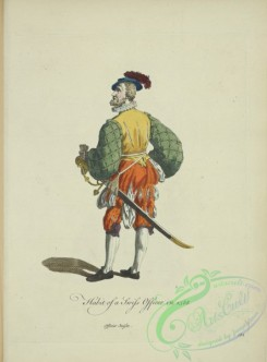 fashion-00952 - 194-Habit of a Swiss officer in 1588, Officier Suisse,Additional A young lady of Silesia