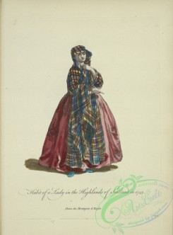 fashion-00962 - 204-Habit of a lady in the highlands of Scotland in 1745, Dame des Montagnes d'Ecosse